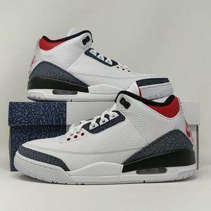 Nike Air Jordan Retro III 3 SE Denim Fire Red